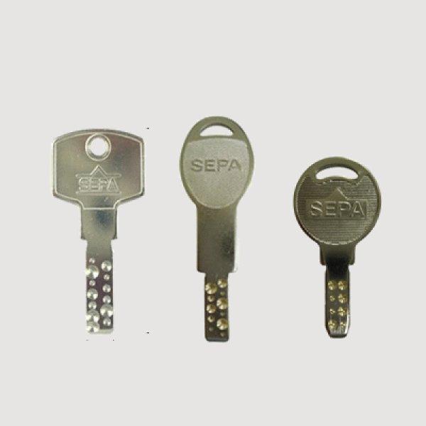 画像1: SEPAシリンダー用合鍵 (1)